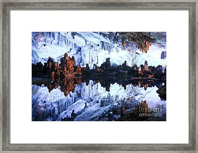 Reed Flute Cave Guillin China Framed Print by Thomas Marchessault