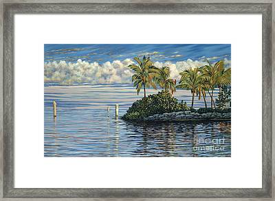 Reef Channel Framed Print by Danielle  Perry