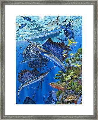 Reef Frenzy Off00141 Framed Print by Carey Chen