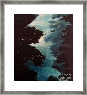 Reef Pohnpei Framed Print by Karen  Ferrand Carroll