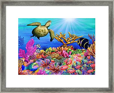 Reef Revelers Framed Print by Carolyn Steele