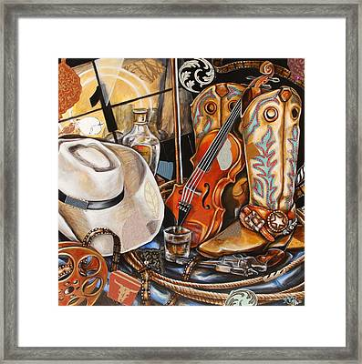 Reel Cowboy Framed Print