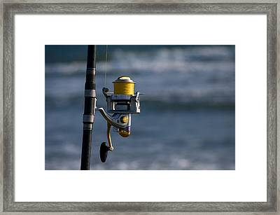 Framed Print featuring the photograph Reel Excitement by Greg Graham