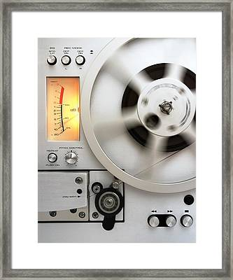Reel To Reel Framed Print