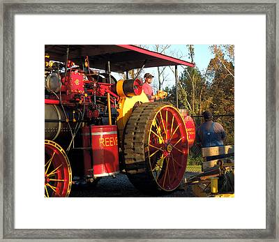 Framed Print featuring the photograph Reeves Steam Tractor by Pete Trenholm