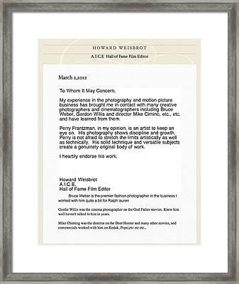 Referral Framed Print