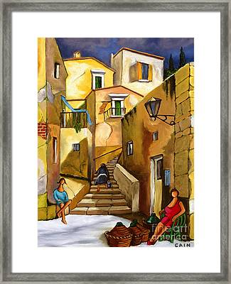 Refill The Wine Prego Framed Print
