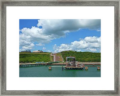 Refinary Pipeline In Milford Haven Framed Print by Panoramic Images