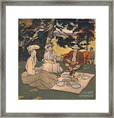Refined Picnic 1904 Framed Print by Padre Art