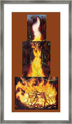 Refiners Fire Framed Print by Anne Cameron Cutri