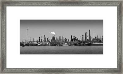 Framed Print featuring the photograph Refinery Might by Ricky L Jones