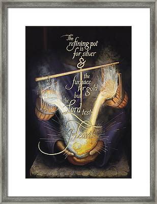 Refining Hearts Framed Print by Crystal Newton