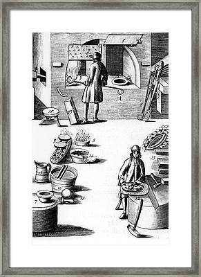 Refining Of Silver Framed Print by Universal History Archive/uig