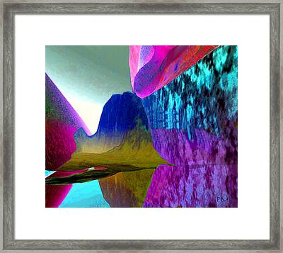 Reflect Glow X Framed Print