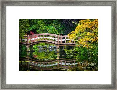 Reflected Bridge Framed Print by Inge Johnsson