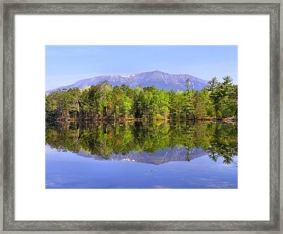 Framed Print featuring the photograph Reflected Katahdin by Gene Cyr