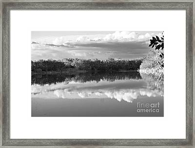 Reflected Sky Framed Print by Chuck  Hicks