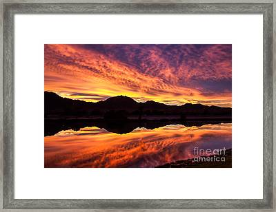Reflected Sunrise Framed Print by Robert Bales