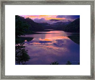 Reflected Sunset Framed Print