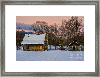 Reflected Warmth Framed Print by Anthony Heflin