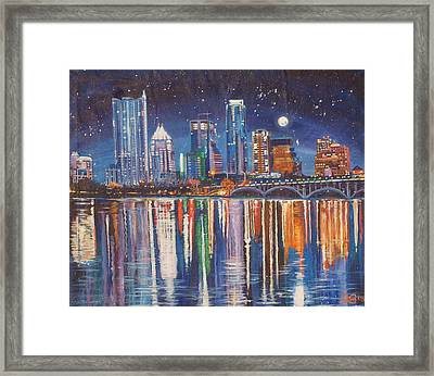 Reflecting Austin Framed Print by Suzanne King