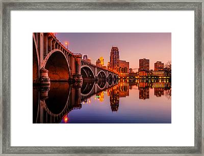Reflecting Beauty Minneapolis Mn Framed Print