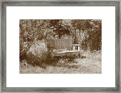 Reflecting Bench Framed Print