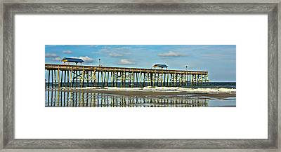 Reflection Pier Framed Print by Paula Porterfield-Izzo