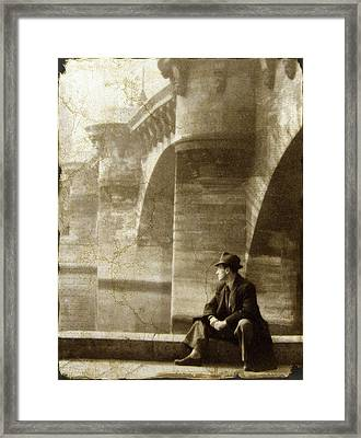 Reflecting By The Seine Framed Print by Jessica Jenney