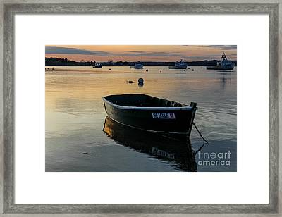 Reflecting In Pine Point Framed Print by Joe Faragalli