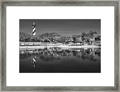 Reflecting Lighthouse  Framed Print by Alice Gipson