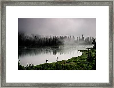 Reflecting On A Moment Framed Print by Brian Xavier