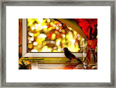 Reflecting On Beauty Framed Print by Peggy Collins