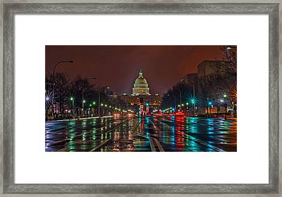 Reflecting On D.c. Framed Print