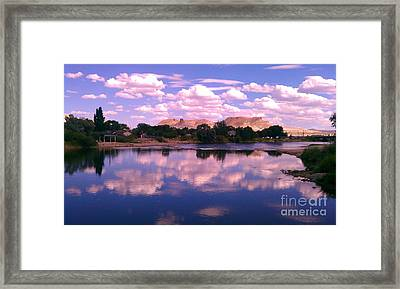 Reflecting On Green River Framed Print by Chris Tarpening