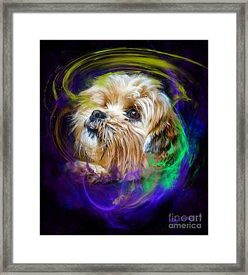 Framed Print featuring the digital art Reflecting On My Life by Kathy Tarochione