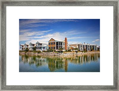Reflecting On New Town Framed Print by Bill Tiepelman