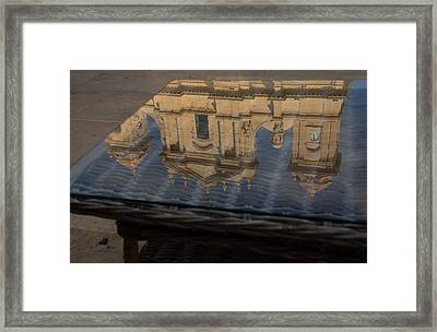 Reflecting On Noto And The Beautiful Sicilian Baroque Style Framed Print by Georgia Mizuleva