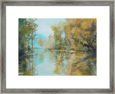 Reflecting On Reflections Framed Print by Elizabeth Crabtree