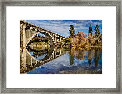 Reflecting On The Past Framed Print