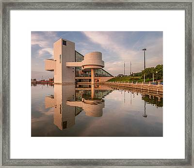 Reflecting On The Rock Hall Framed Print by At Lands End Photography