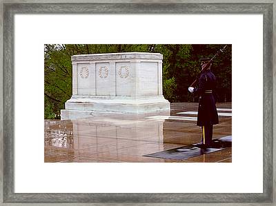 Reflecting On The Unknown Framed Print by Jame Hayes
