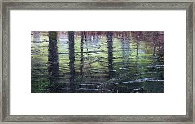 Reflecting On Transitions Framed Print