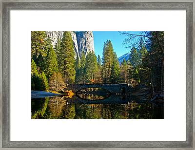 Reflecting On Yosemite Framed Print