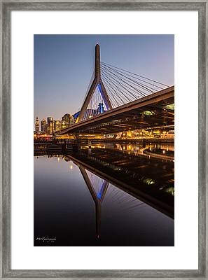 Reflecting On Zakim Framed Print