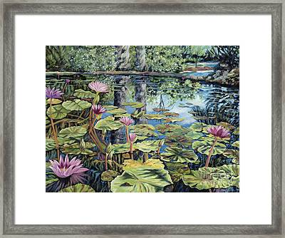 Reflecting Pond Framed Print by Danielle  Perry