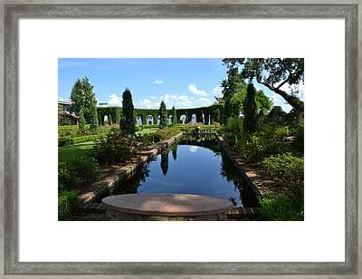 Reflecting Pond Landscape Framed Print by Victoria Clark