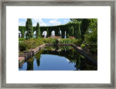 Reflecting Pond Framed Print by Victoria Clark