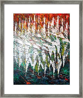 Reflecting Sails Framed Print