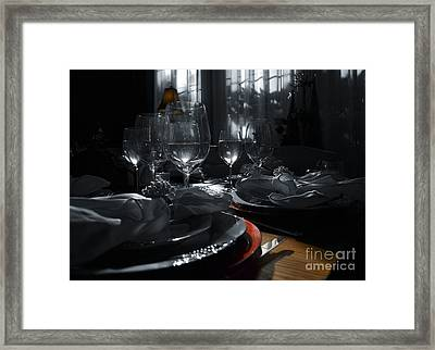 Reflecting Thanksgiving Framed Print